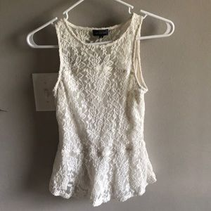 XS lace peplum top from the limited